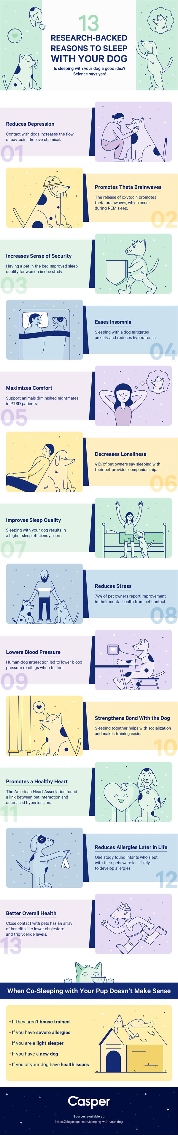 Reasons to sleep with your dog.