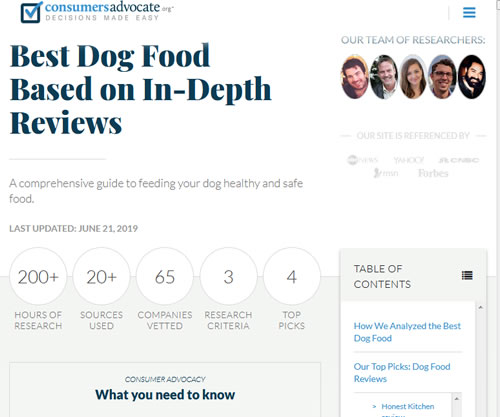 Best dog food review